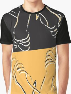 Sandals - yellow and black illustration Graphic T-Shirt