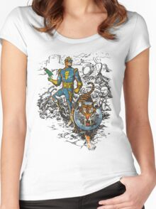 Calvin: The Spiffy Spaceman Women's Fitted Scoop T-Shirt