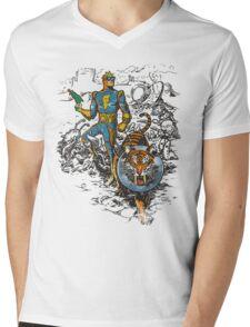 Calvin: The Spiffy Spaceman Mens V-Neck T-Shirt