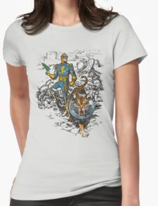 Calvin: The Spiffy Spaceman Womens Fitted T-Shirt