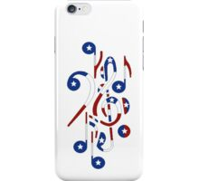 USA Flag Musical Notes iPhone Case/Skin