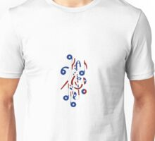 USA Flag Musical Notes Unisex T-Shirt