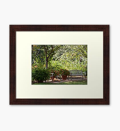 Resting Along the Path Framed Print