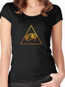 Eye of Horus  Women's Fitted Scoop T-Shirt