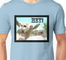 Goat Saying Hey! Unisex T-Shirt