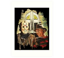 Freddy vs Jason Horror American Gothic Art Print