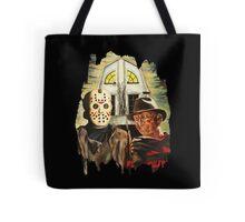 Freddy vs Jason Horror American Gothic Tote Bag