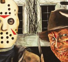 Freddy vs Jason Horror American Gothic Sticker