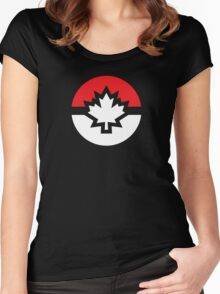 Canada Pokemon Logo Pokeball Women's Fitted Scoop T-Shirt