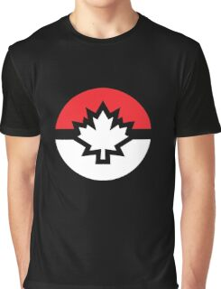 Canada Pokemon Logo Pokeball Graphic T-Shirt