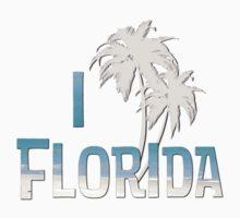 I Love Florida - Palm Tree Baby Tee