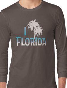 I Love Florida - Palm Tree Long Sleeve T-Shirt