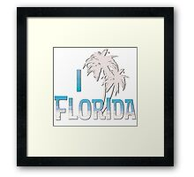 I Love Florida - Palm Tree Framed Print