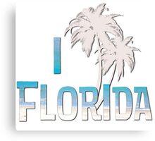 I Love Florida - Palm Tree Canvas Print