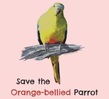 Orange-bellied Parrot products (light background colours) Kids Clothes