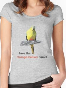 Orange-bellied Parrot products (light background colours) Women's Fitted Scoop T-Shirt