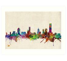 Melbourne Skyline Cityscape Art Print