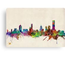 Melbourne Skyline Cityscape Canvas Print