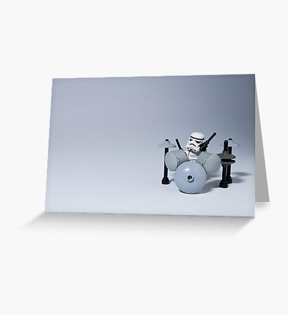 Drumming up a storm Greeting Card