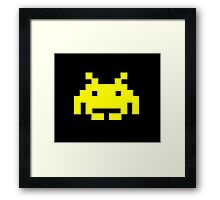Retro Video Game - Space Invaders Framed Print
