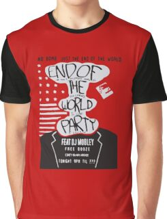 Mr. Robot End of the World Party Tee Graphic T-Shirt