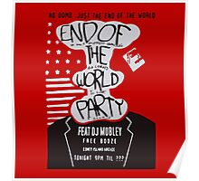 Mr. Robot End of the World Party Tee Poster