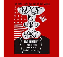 Mr. Robot End of the World Party Tee Photographic Print