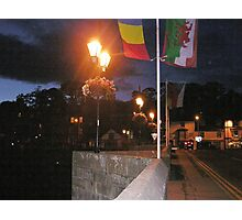 Night Life In Llangollen Photographic Print