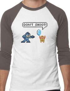 Mega Man Robs Link Men's Baseball ¾ T-Shirt