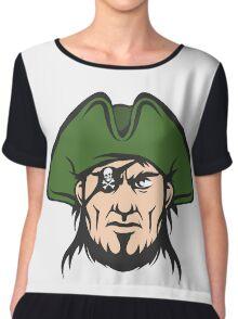 Pirate Mascot Face  Chiffon Top