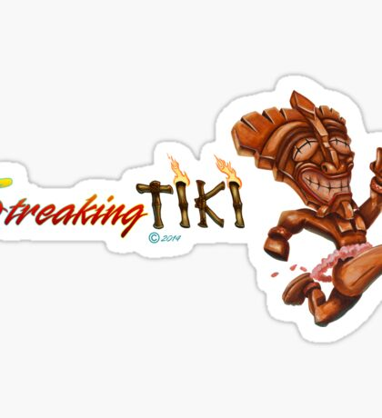 The Streaking Tiki Sticker
