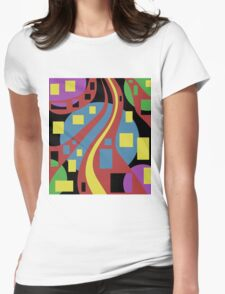 Colorful abstraction Womens Fitted T-Shirt
