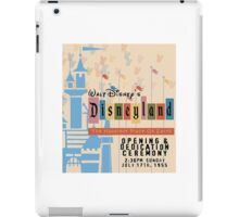 Vintage Theme park poster, Happiest Place Opening Poster iPad Case/Skin
