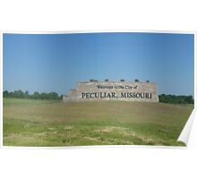 Peculiar Missouri Welcome Sign Poster