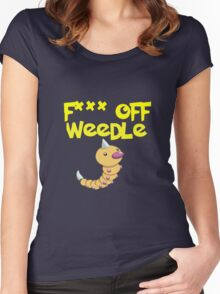 F*** off Weedle Women's Fitted Scoop T-Shirt