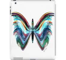 Colorful Blue Modern Butterfly Transp. iPad Case/Skin