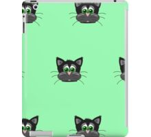Cute cats,random pattern,lime green,grey,black,fun,kid,kids iPad Case/Skin