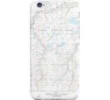 USGS TOPO Map Alaska AK Lookout Ridge D-1 357183 1984 63360 iPhone Case/Skin