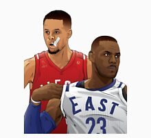 Steph Curry and Lebron James - The 2 Goats Unisex T-Shirt