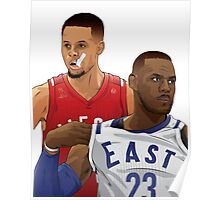 Steph Curry and Lebron James - The 2 Goats Poster