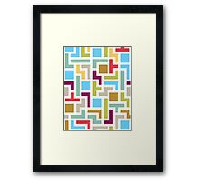 Tetris with scandinavian colors Framed Print