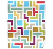 Tetris with scandinavian colors Poster