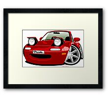 Mazda Miata caricature red Framed Print