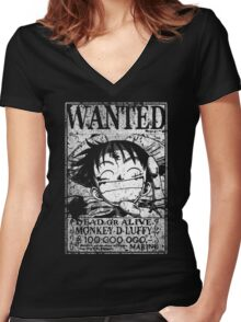 Wanted Grunge  Women's Fitted V-Neck T-Shirt