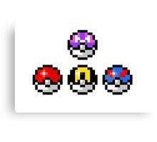 Pokemon Poke Balls Canvas Print