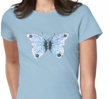 Mosaic Butterfly Womens Fitted T-Shirt