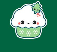 Green Christmas Cupcake Womens Fitted T-Shirt