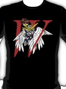 Heero Yuy and Wing Gundam Zero - Chibilette T-Shirt