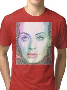 Adele (with lyrics from 'Hello') Tri-blend T-Shirt