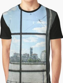City Hall from the Tower of London Graphic T-Shirt